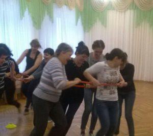 """Эстафета -""""Теремок"""" на соревнованиях воспитателей"""